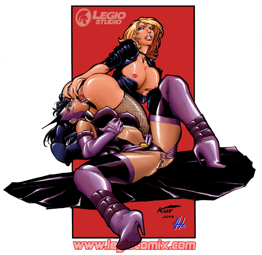 kiss black and huntress canary Lois and meg have sex