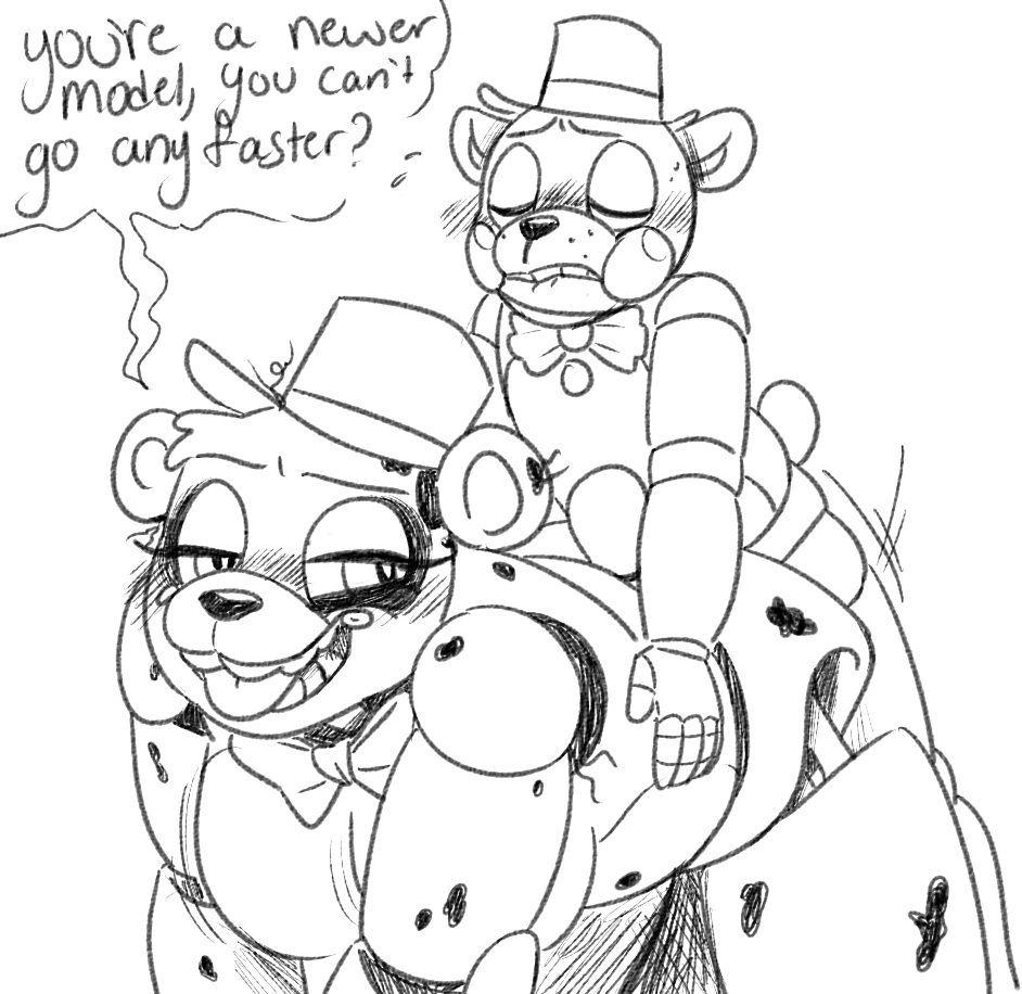 fucks at 2 five freddy's Under her tail part 2