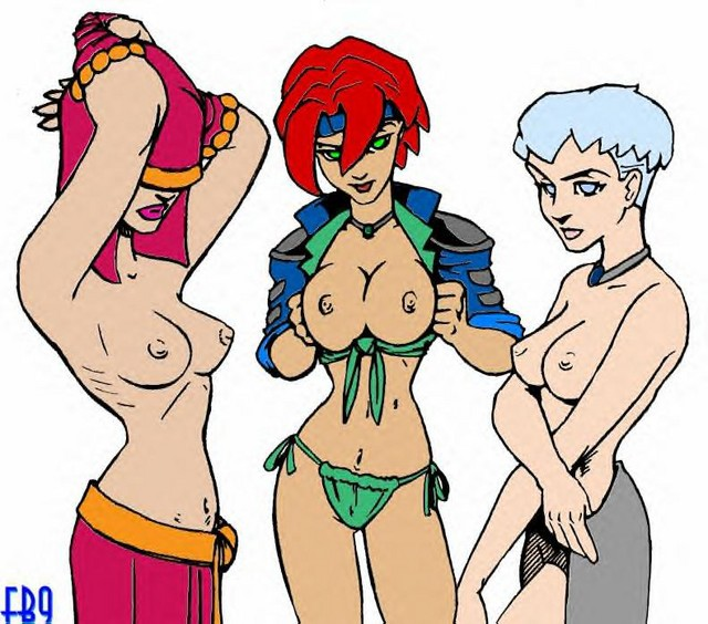 nude female wars characters star Rouge the bat alternate costume